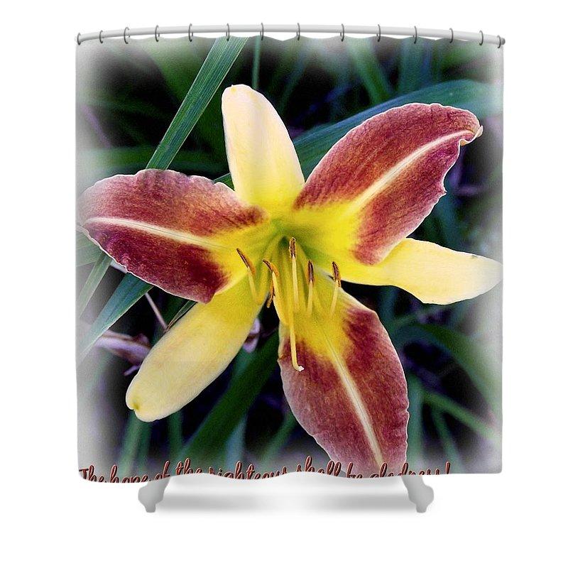 Jesus Shower Curtain featuring the digital art Proverbs 10 28 by Michelle Greene Wheeler