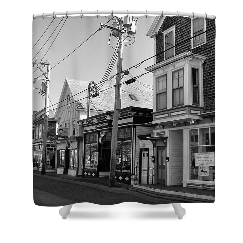 Provincetown Shower Curtain Featuring The Photograph Cape Cod By Georgia Fowler