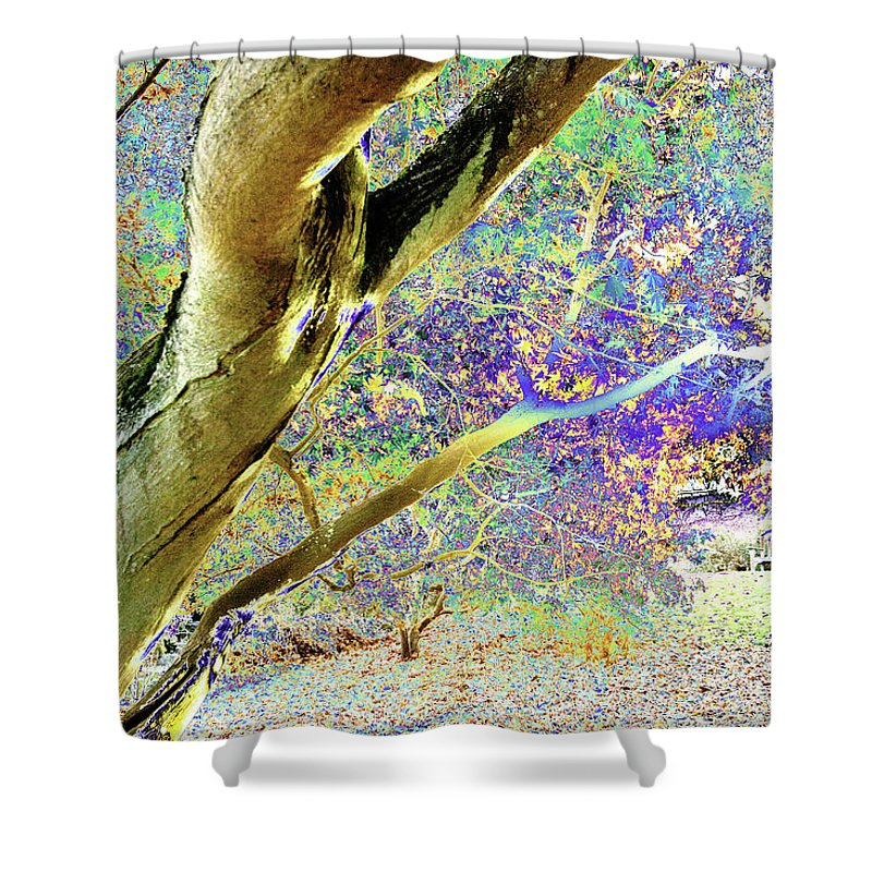 Psychedelic Shower Curtain featuring the photograph Psychedelic English Park by Peter Lloyd