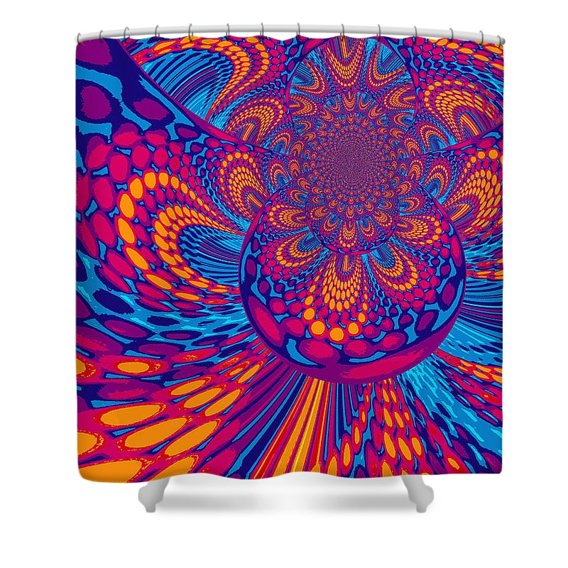 Psychedelic Shower Curtain Featuring The Digital Art Mind Trip By Absinthe Michelle LeAnn