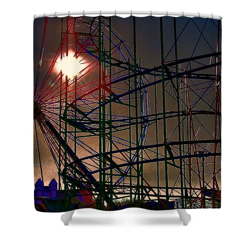 Architectural Art Shower Curtain featuring the photograph Psychedelic Ride by Robert McCubbin