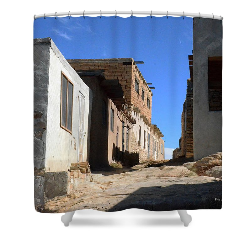 Pathway Shower Curtain featuring the photograph Pueblo Pathway by Debby Pueschel