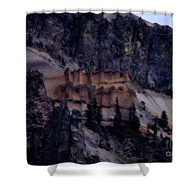 Pumice Castle Shower Curtain featuring the photograph Pumice Castle I by Sharon Elliott