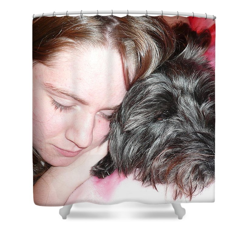 Puppy Shower Curtain featuring the photograph Puppy Love by Nicki Bennett