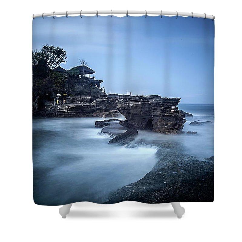 Pura Tanah Lot Shower Curtain featuring the photograph Pura Tanah Lot by Franciscus Nanang Triana