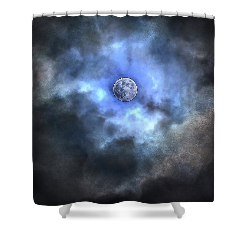 Tranquility Shower Curtain featuring the photograph Purnama by Jemang Images