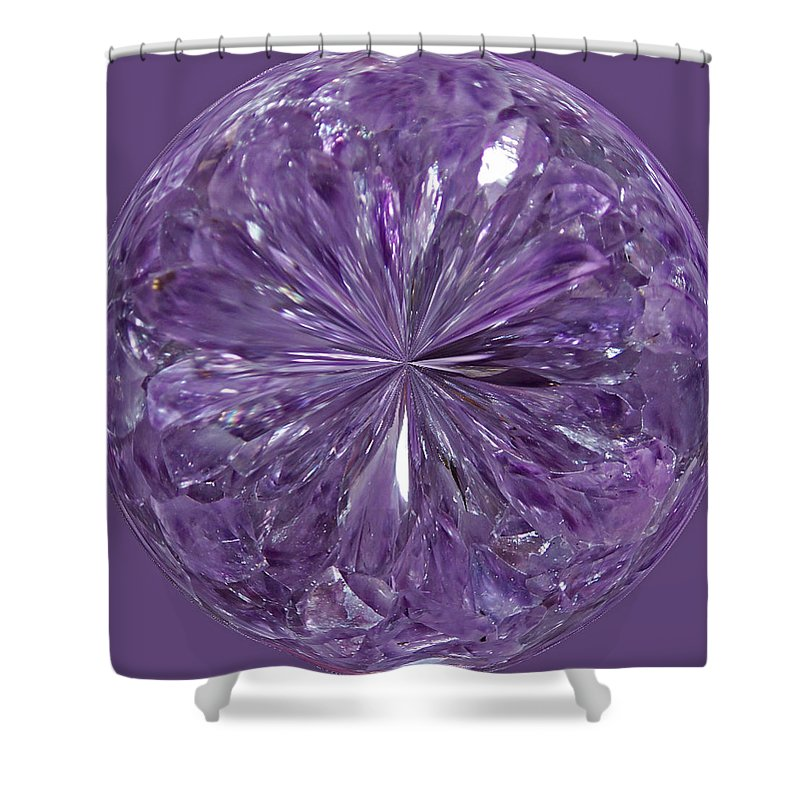 Amethyst Shower Curtain featuring the photograph Purple Crystal Gem by Tikvah's Hope
