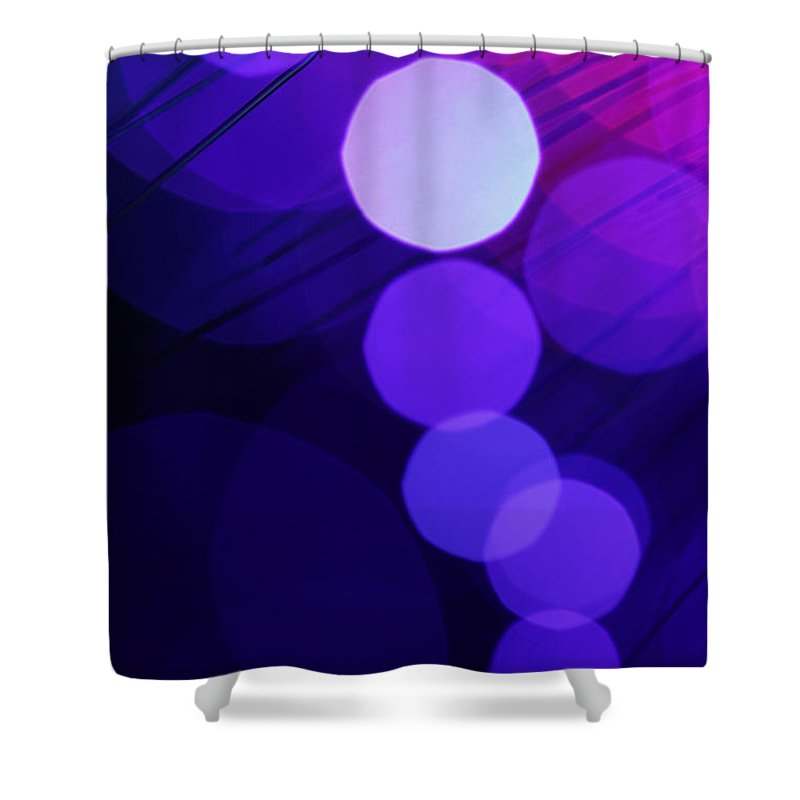 Abstract Shower Curtain featuring the photograph Purple Haze by Dazzle Zazz