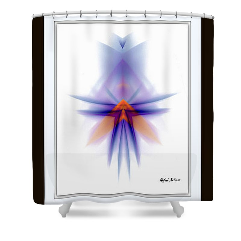 Abstract Shower Curtain featuring the painting Purple Rain by Rafael Salazar