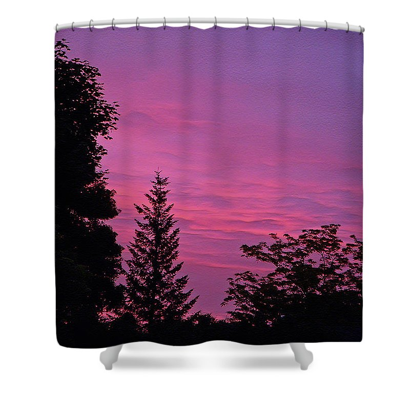 Sunset Shower Curtain featuring the photograph Purple Sky At Night by Aimee L Maher ALM GALLERY