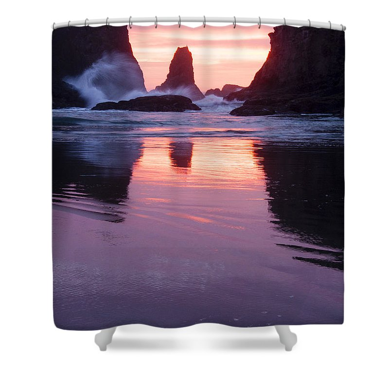 Sunset Shower Curtain featuring the photograph Purple Sunset by Vivian Christopher