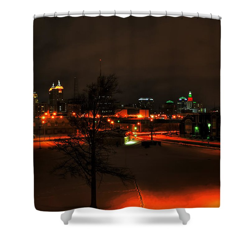 Buffalo Shower Curtain featuring the photograph Queen City Winter Wonderland After The Storm Series 0024 by Michael Frank Jr