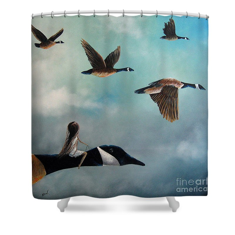 Geese Shower Curtains