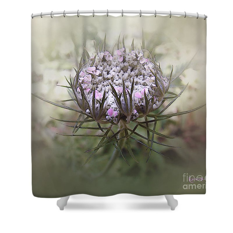 Queen Anne's Lace Shower Curtain featuring the digital art Queen Of The Mist by RC DeWinter