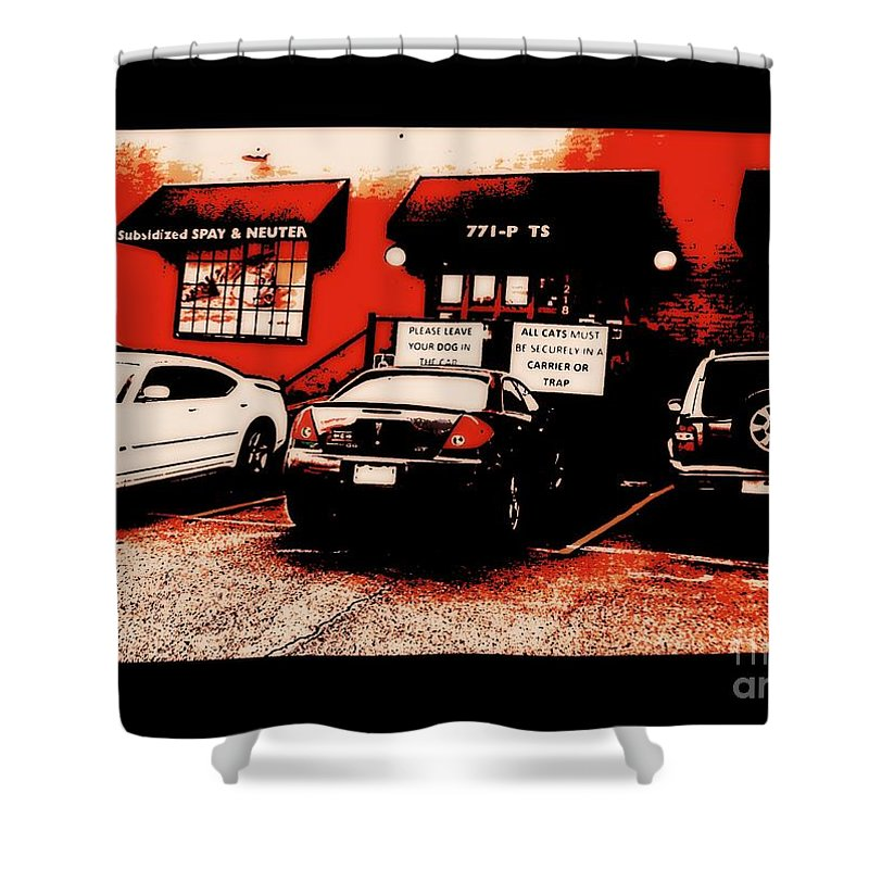 Shower Curtain featuring the photograph Quick Fix Pet Clinic by Kelly Awad