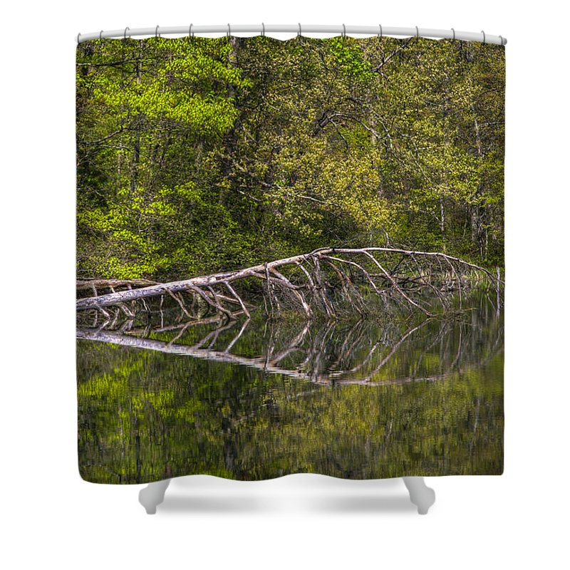 Appalachia Shower Curtain featuring the photograph Quiet Waters by Debra and Dave Vanderlaan