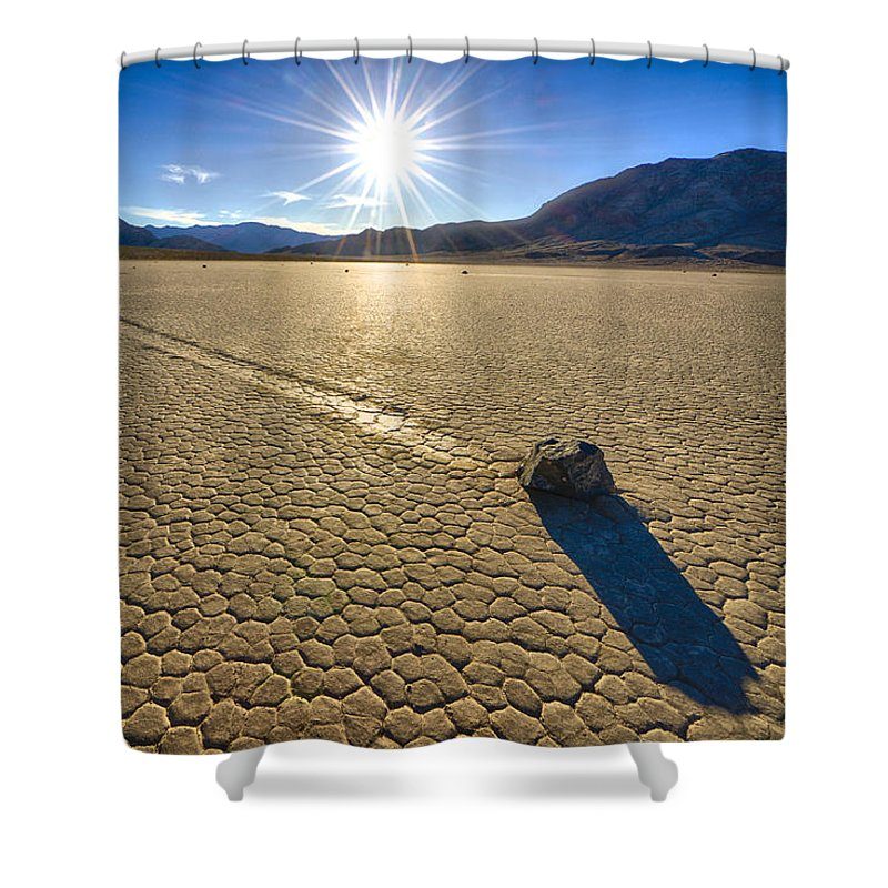 California Shower Curtain featuring the photograph Racetrack Playa Sunset by Craig Voth