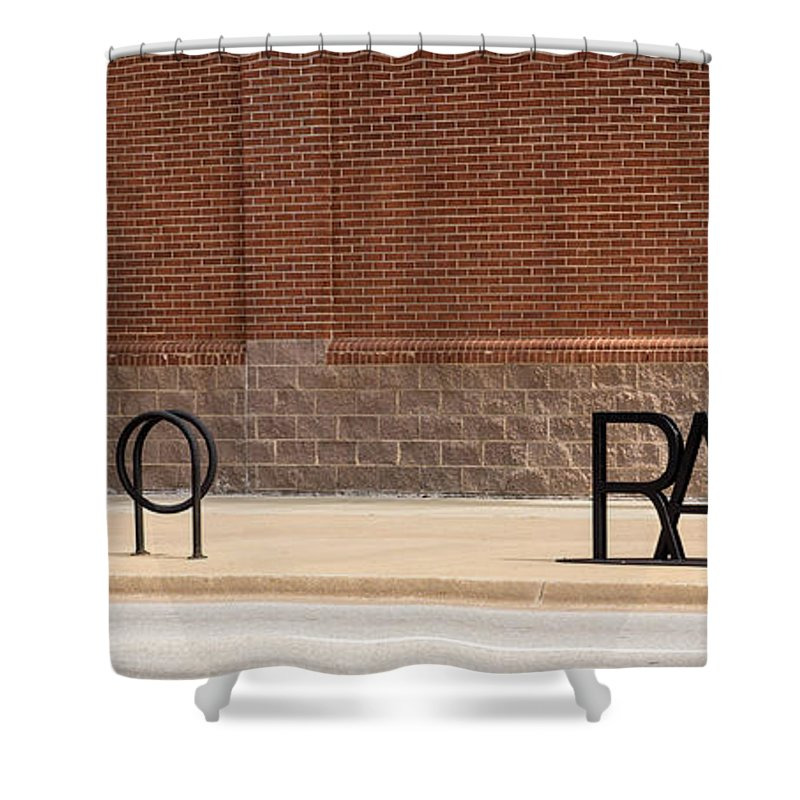 Metal Shower Curtain featuring the photograph Rack Up In Okc by Laura Deerwester