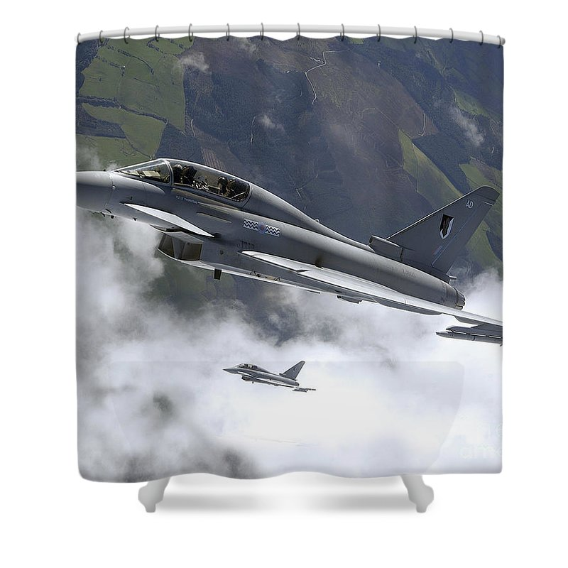 Typhoon Shower Curtain featuring the photograph Raf Typhoon by Paul Fearn