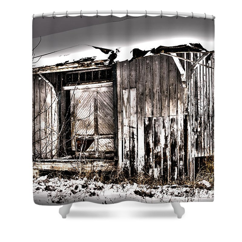 Abandoned Shower Curtain featuring the photograph Rail Station by William Norton