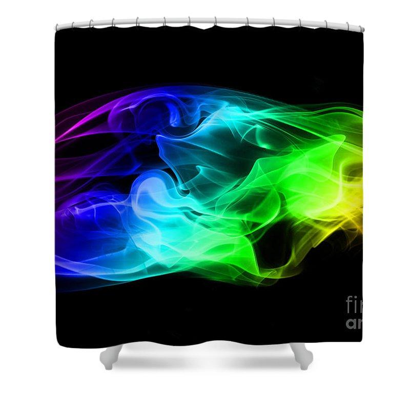 Rainbow Shower Curtain featuring the photograph Rainbow Smoke by Jt PhotoDesign