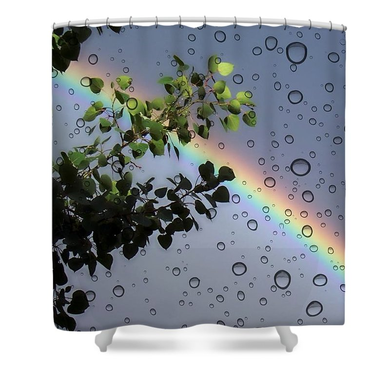 Rainbow Shower Curtain featuring the photograph Raindrops by Janice Westerberg