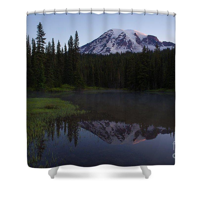 Mount Rainier Shower Curtain featuring the photograph Rainier Awakening by Mike Reid