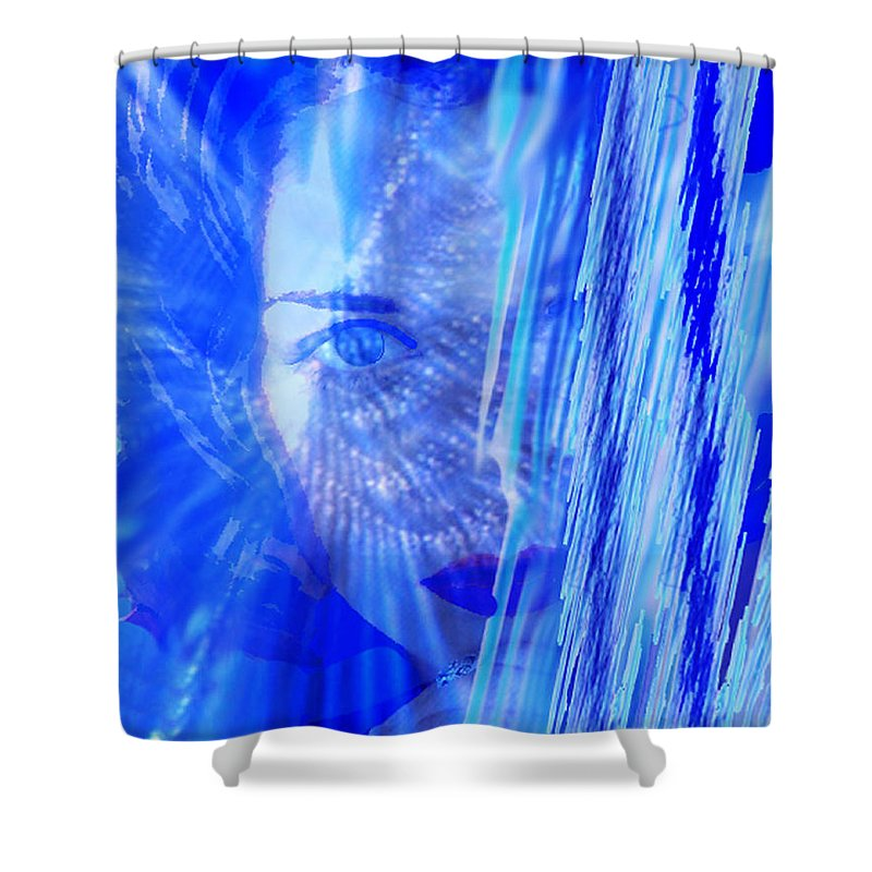Rainy Day Dreams Shower Curtain featuring the digital art Rainy Day Dreams by Seth Weaver