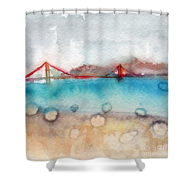 San Francisco Shower Curtain Featuring The Painting Rainy Day In By Linda Woods