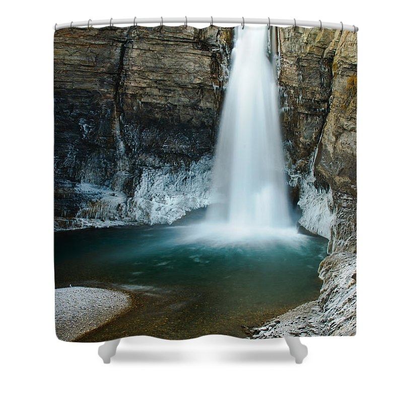 Hiking Shower Curtain featuring the photograph Ram Falls by Brandon Smith
