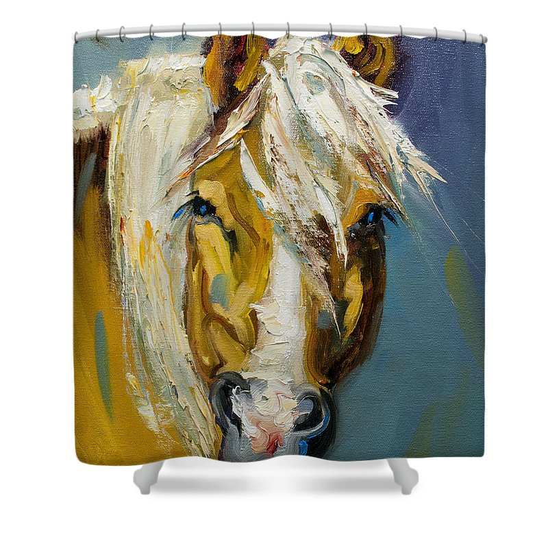Horse Shower Curtain featuring the painting Ranch Horse by Diane Whitehead