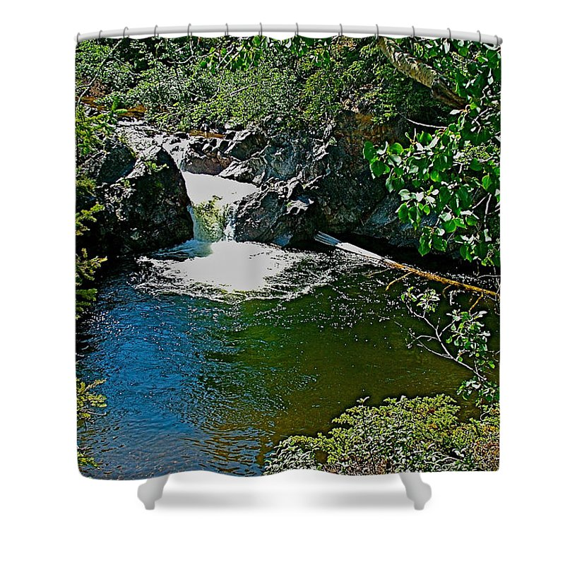 Rancheria Falls Shower Curtain featuring the photograph Rancheria Falls-yt by Ruth Hager