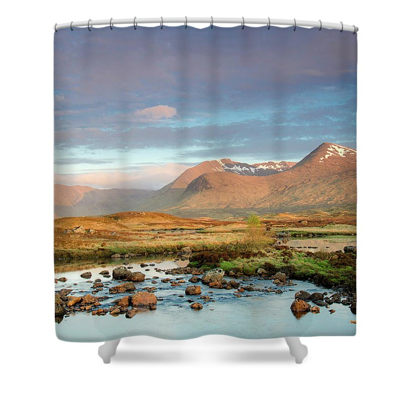 Scenics Shower Curtain featuring the photograph Rannoch Moor by Mike Dow Photography