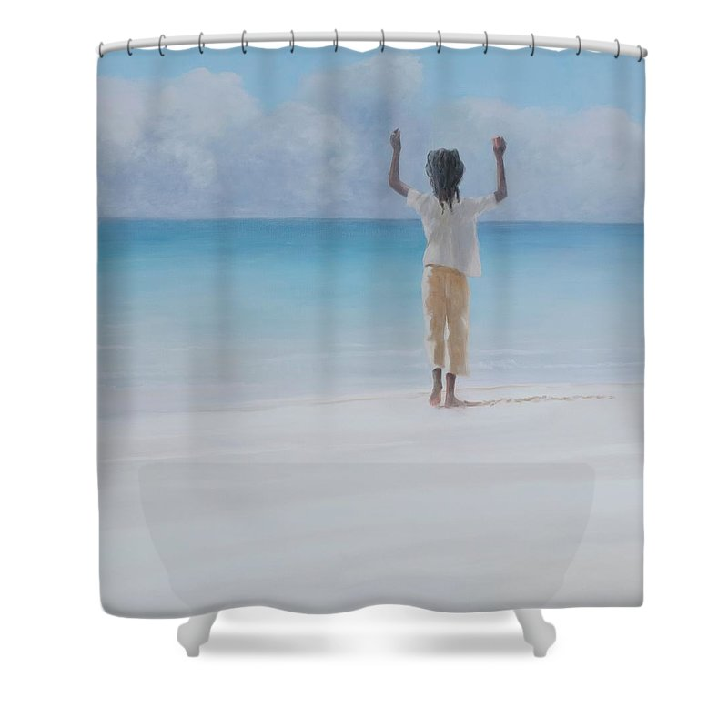 Lincoln Children Photographs Shower Curtains