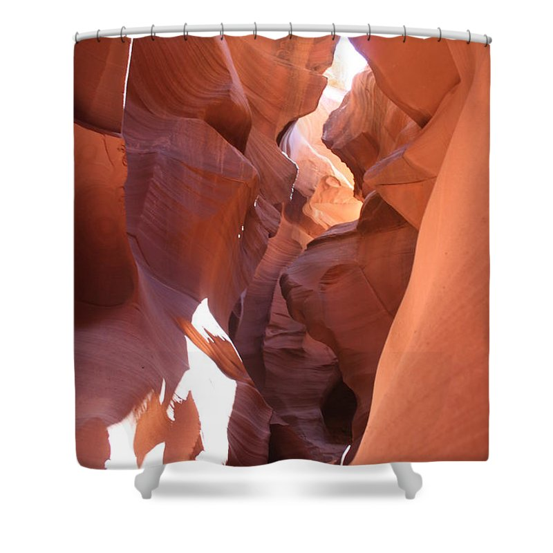Canyon Shower Curtain featuring the photograph Ravine Walk - Antelope Canyon by Christiane Schulze Art And Photography