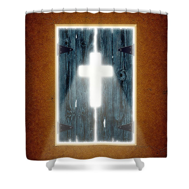 Ray Of Light Shower Curtain featuring the digital art Ray Of Light by Cristophers Dream Artistry