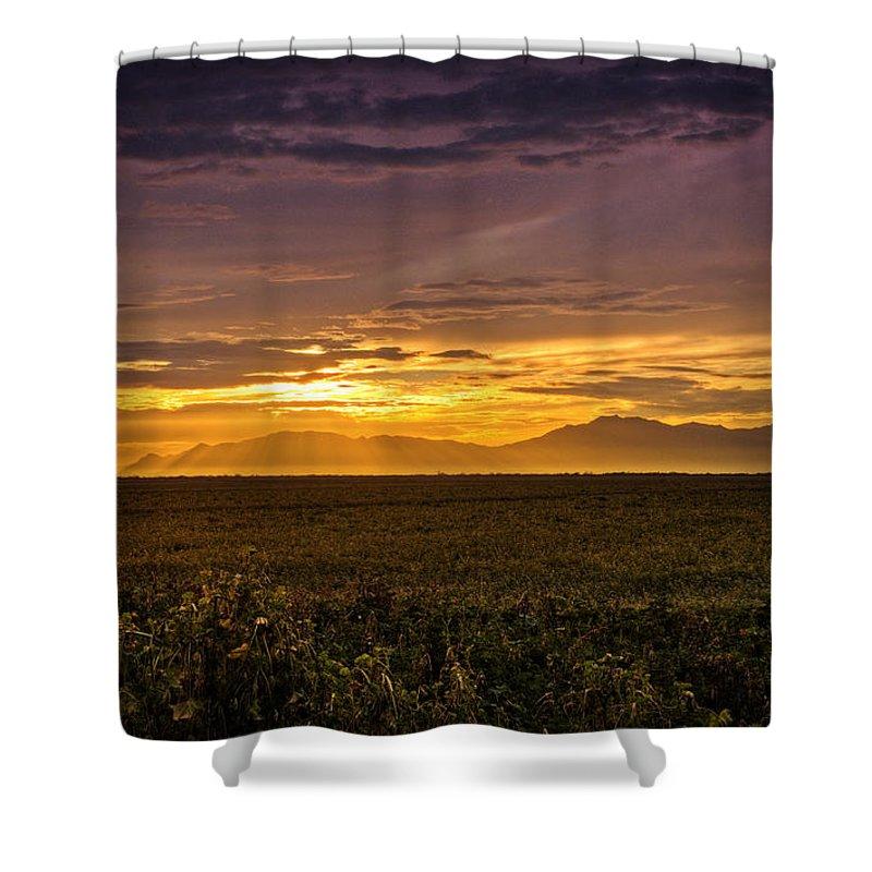 Sunset Shower Curtain featuring the photograph Rays Of Hope by Saija Lehtonen