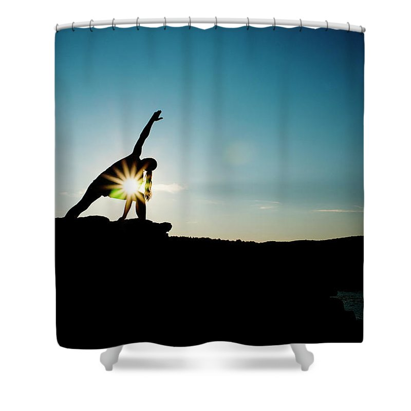 Funky Shower Curtain featuring the photograph Reach For The Sky by Subman