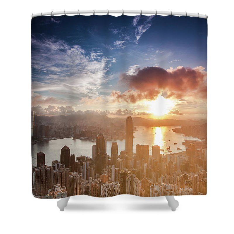 Tranquility Shower Curtain featuring the photograph Ready For Summer In Hong Kong by Kenny Chow Kmdd