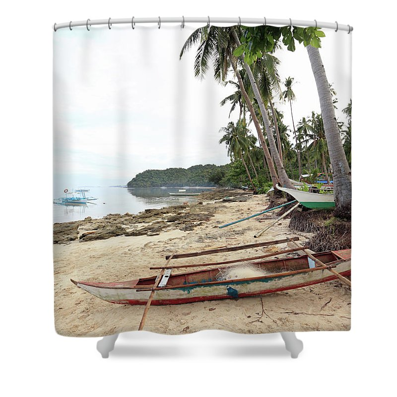 Water's Edge Shower Curtain featuring the photograph Ready To Fishing by Vuk8691