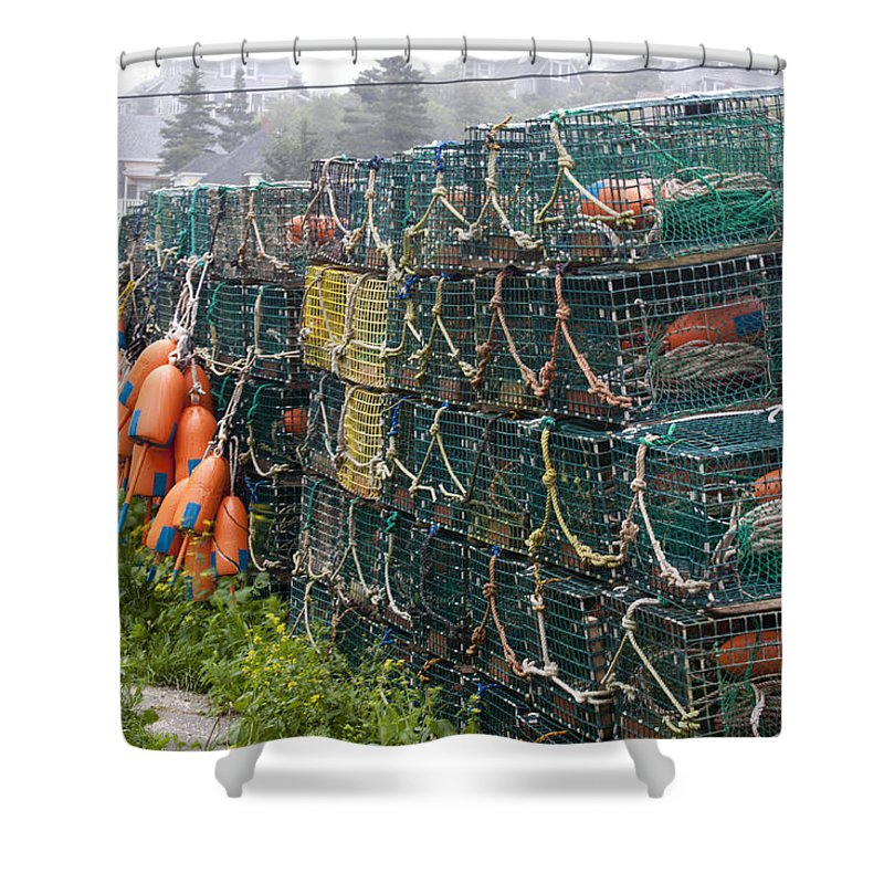 Lobster Shower Curtain featuring the photograph Ready To Go by Jean Macaluso