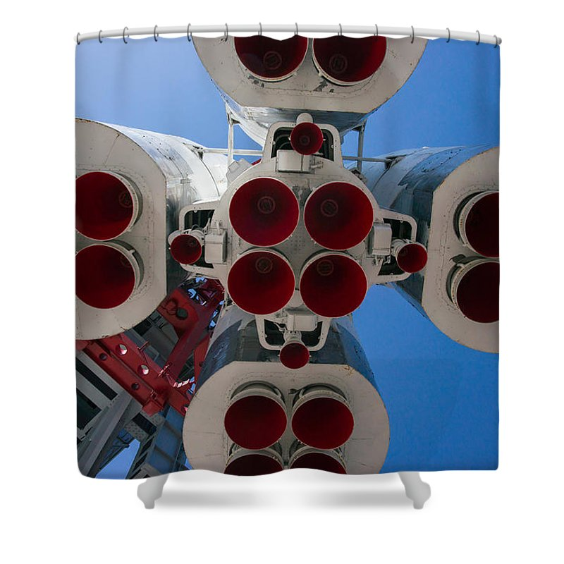 Aerospace Shower Curtain featuring the photograph Ready To Start by Alexander Senin