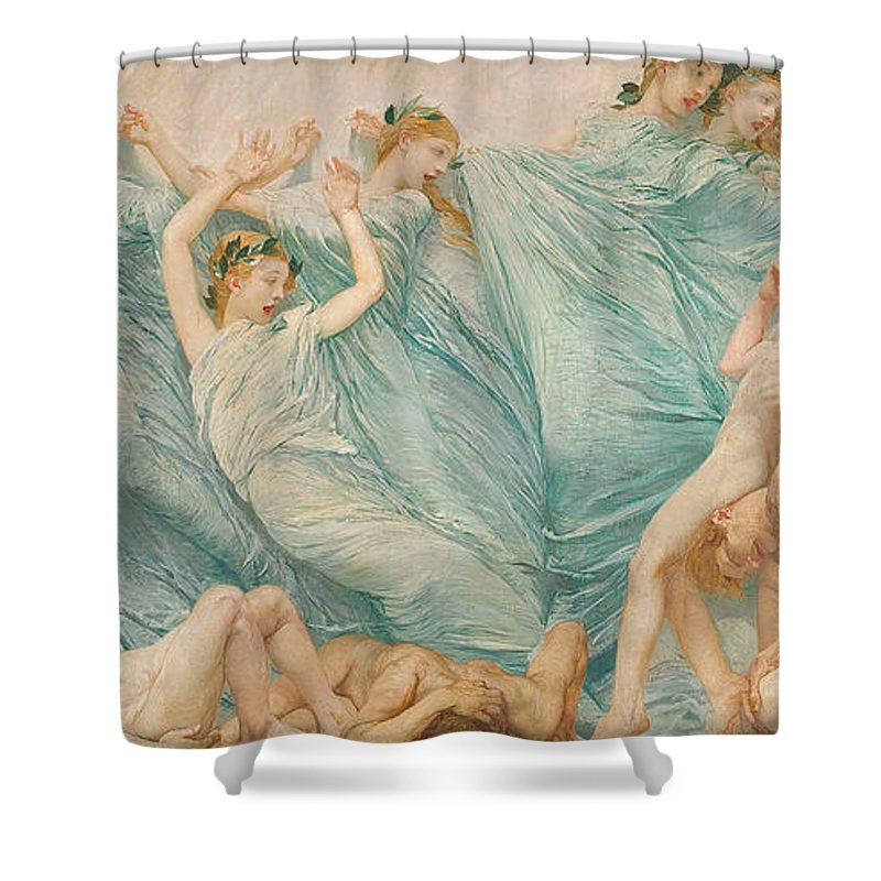 Reawakening Shower Curtain featuring the painting Reawakening by Sartorio Giulio Aristide