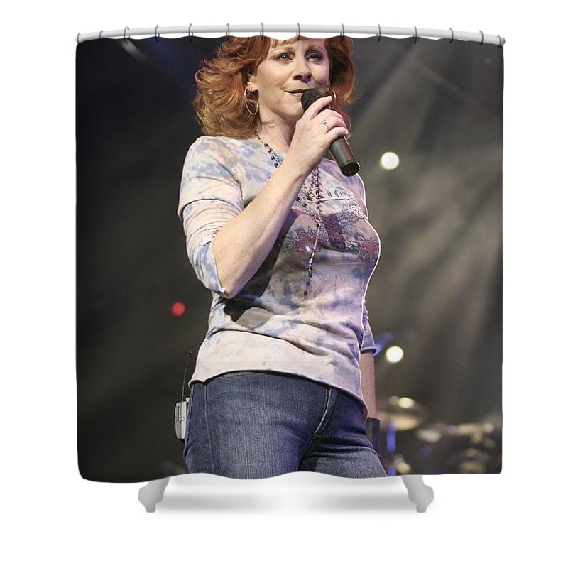 Dress Shower Curtain featuring the photograph Reba Mcentire by Concert Photos