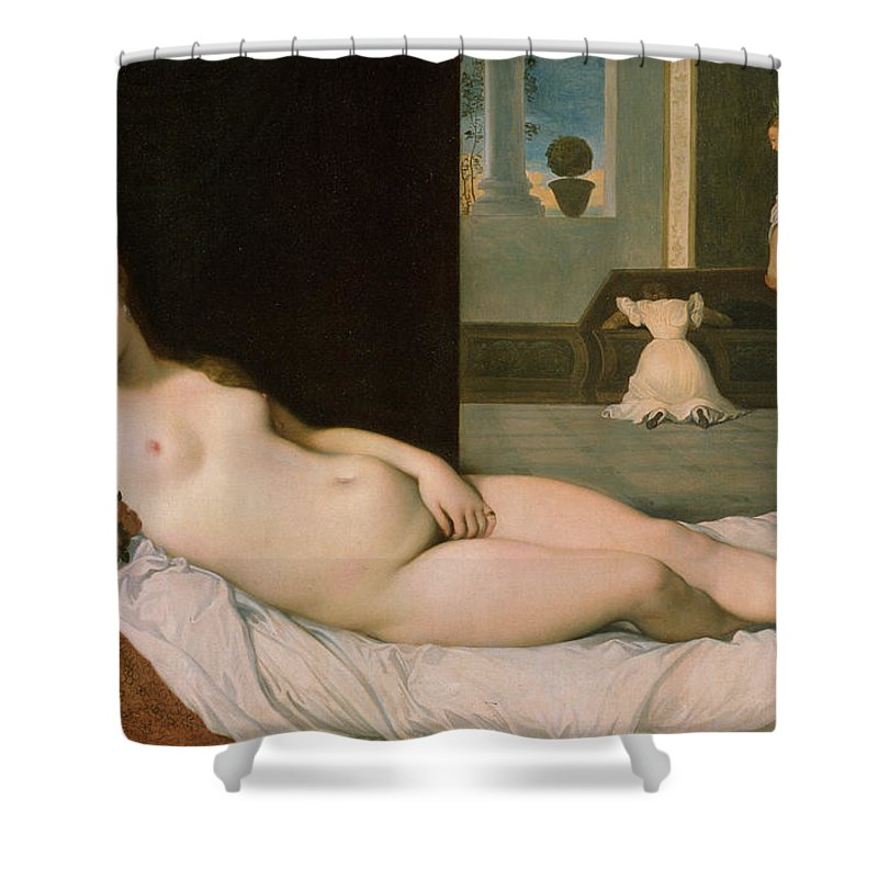 Reclining Venus Shower Curtain featuring the painting Reclining Venus by Ingres