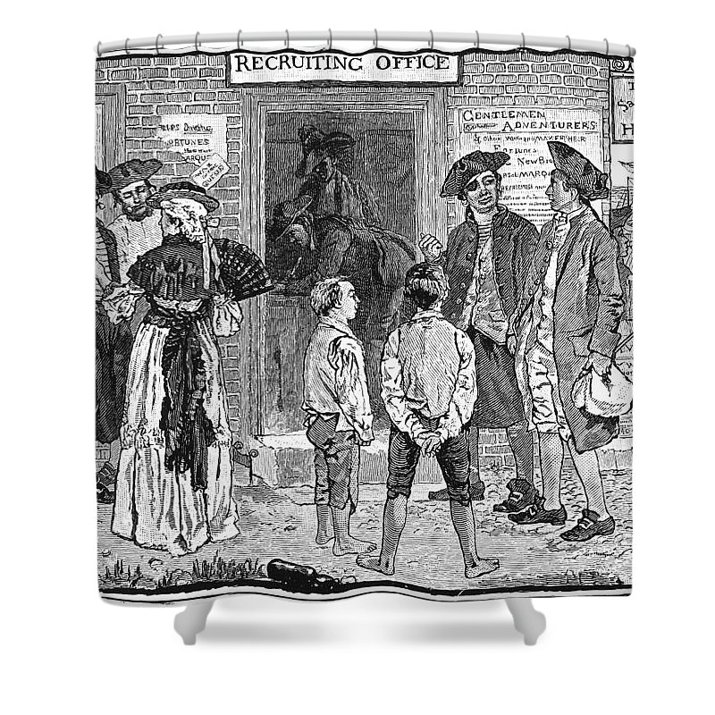 1778 Shower Curtain featuring the photograph Recruitment, C1778 by Granger