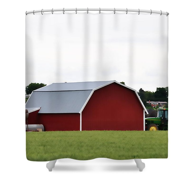 Barn Shower Curtain featuring the photograph Red Barn by Image Takers Photography LLC