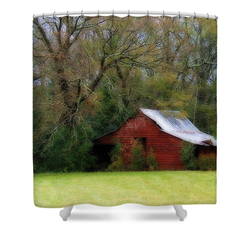 Red Barn Shower Curtain featuring the photograph Red Barn by Steven Richardson
