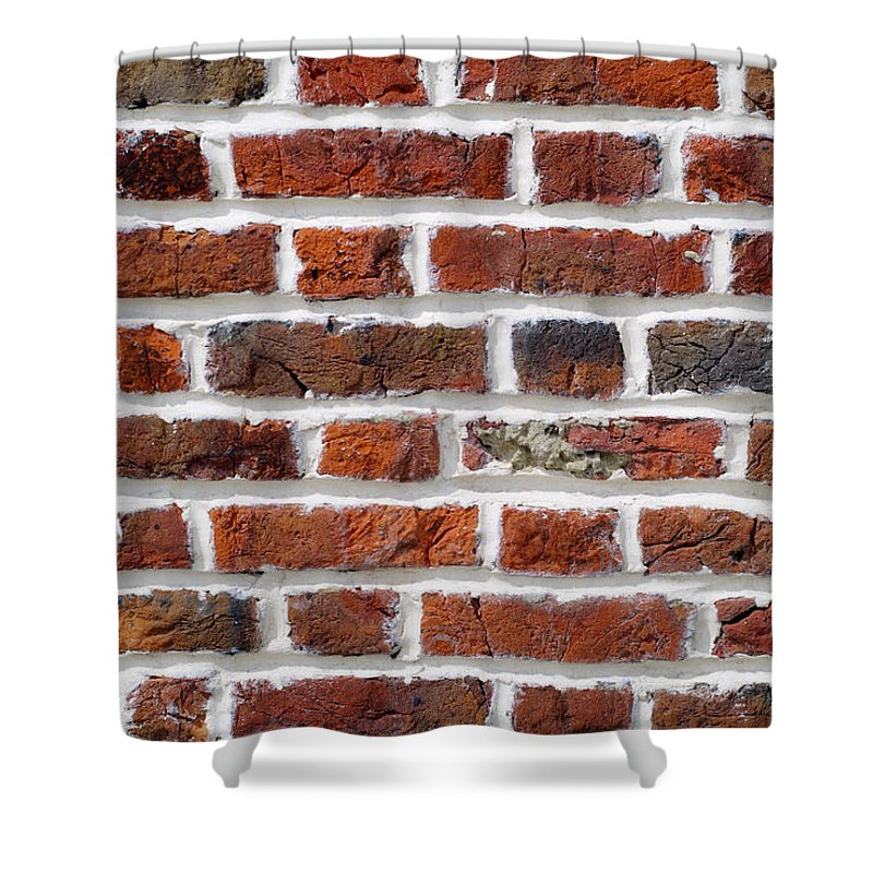 Brick Shower Curtain featuring the photograph Red Brick Wall by Chevy Fleet