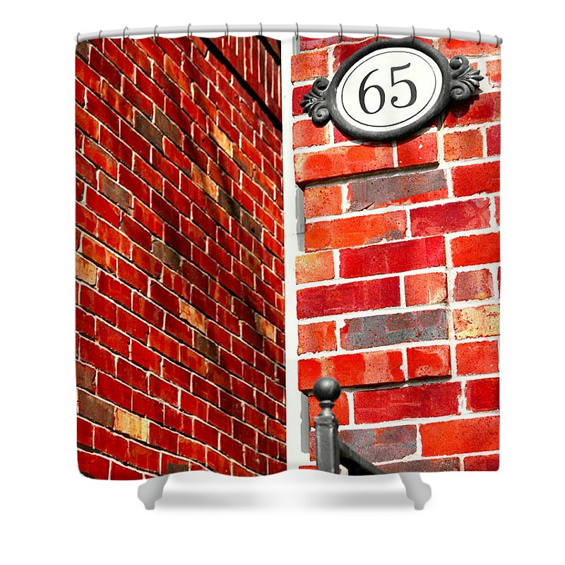 Red Shower Curtain featuring the photograph Red Bricks by Valentino Visentini